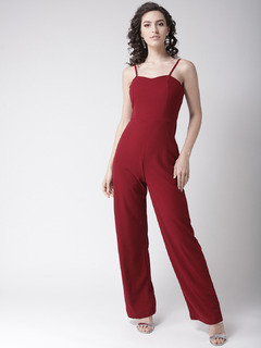 Count On Me Maroon Jumpsuit