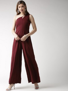 Here Comes The Hotstepper Wine Jumpsuit