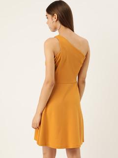Apparel-Yellow Edging Towards Style Dress