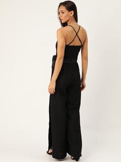 Apparel-It Is Worth A Tie Black Jumpsuit