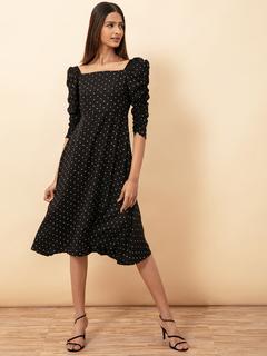 Apparel-Always On My Radar Polka Dot Dress