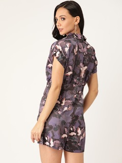 Apparel-The Cutest Pleat Floral Playsuit