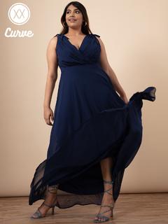 Apparel-Navy Blue You Look So Magnificent Maxi Dress