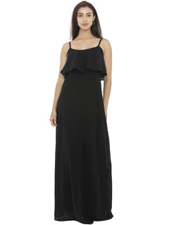 Dance With Flare Black Maxi Dress