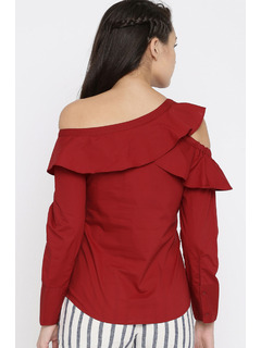 Apparel-Dont Ruffle My Shoulder Top