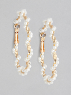 The Pearl Twist Hoop Earrings