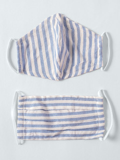 Accessories-Blue Striped Yarn Dyed Reusable Face Mask Pack