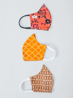 Accessories-Multicolor Abstract Printed Reusable Face Mask Pack