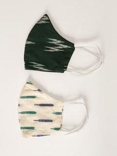 Accessories-Multicolor Styled In Ikat Reusable Face Mask Pack