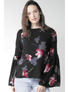 Flare Of The Florals Top