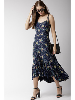 Flourishing Florals Midi Dress