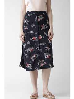 Flower Power Button Down Midi Skirt