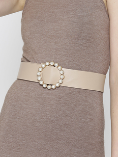 For The Love Of Pearls Beige Belt