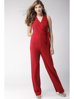 Getting Hot In Here Red Jumpsuit