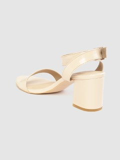 Shoes-Buckle It Down Nude Heels