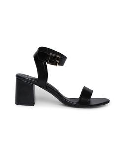 Shoes-Buckle It Down Black Heels
