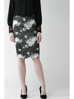 Hazy In Florals Pencil Skirt