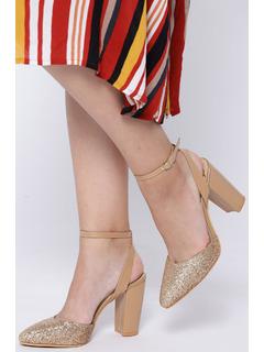 Long Glittery Night Block Heels