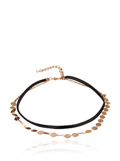 Loops Of Gold Choker Necklace