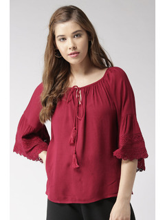 Maroon The Bohemian Summer Top