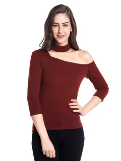 Apparel-Maroon The Edge Of Classics Top
