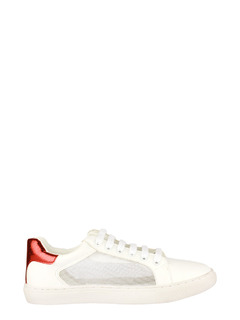 Meshing The White And Red Sneakers