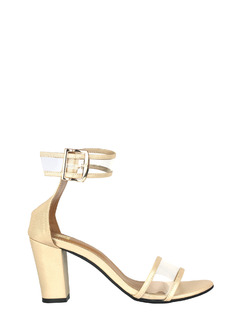Metallic Dance Clear Block Heels