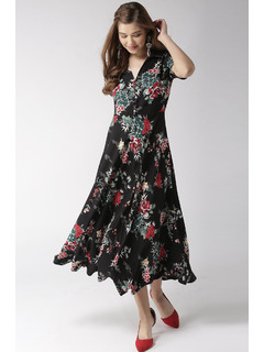 Now And Forever Floral Dress