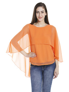 Orange Fly Away Cape Top