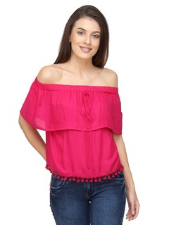 Pink The Blushing Bardot Top