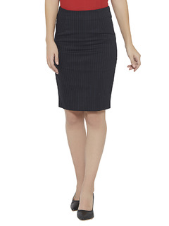 Pinned With Stripes Pencil Skirt