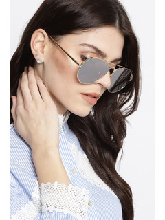 Play It Cool Silver Sunglasses