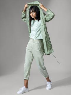 Accessories-Green Rain On Me Raincoat