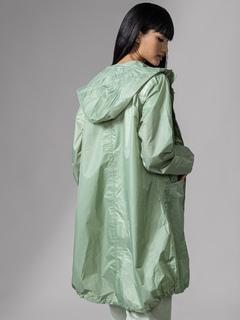 Apparel-Green Rain On Me Raincoat