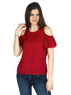 Red Little Miss Frilly Top