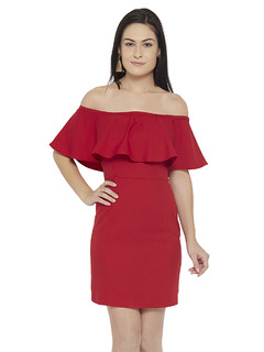 Apparel-Red Sit Still Look Pretty Dress