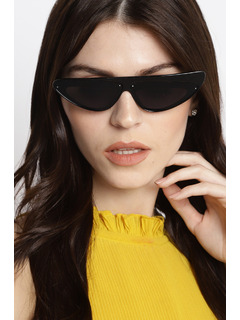 Retro Chick Black Sunglasses