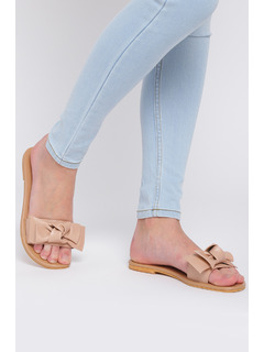 Rock That Bow Pink Slider Flats