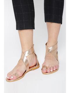 Rose Gold Wrap Around Me Flats