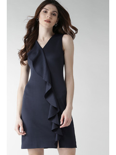 Ruffle The Town Blue Dress