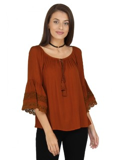 Rust The Bohemian Summer Top