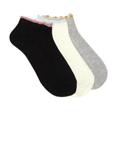 Accessories-Pack of Three Fringe It On Socks