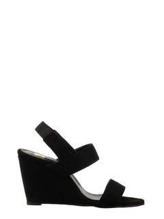 Sling Me Back Black Wedges