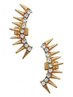 Spikes Of Funk Ear Cuff Pair