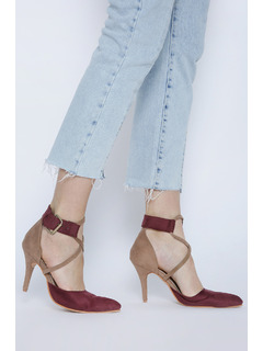 Spill The Wine And Beige Stiletto Heels
