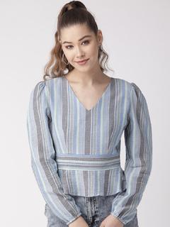 Apparel-Textures Of Stripe Top