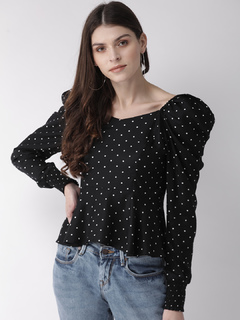 Apparel-The Polka Peplum Top