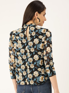 Apparel-Lost In The Floral Ruffle Top