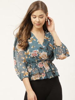 Apparel-Floral The Ruffled Layer Top