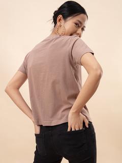Apparel-Back To The Basics Khaki T-shirt
